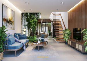 Thiết kế nhà phố phong cách kiến trúc nhiệt đới tại Đà Nẵng