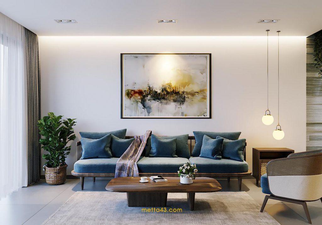 Thiết kế nội thất phòng khách với kiến trúc nhiệt đới