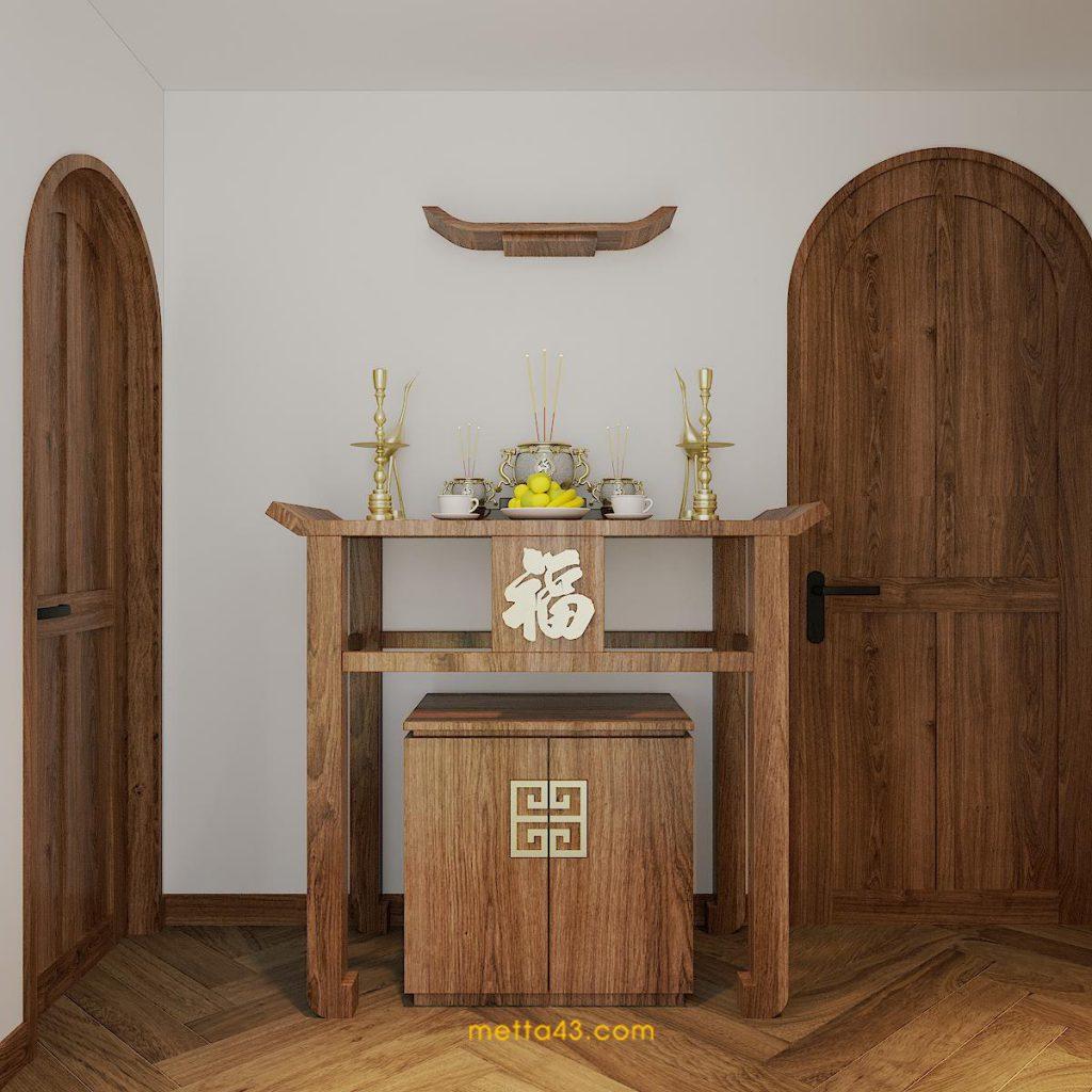 Phòng thờ - Thiết kế bởi Metta Studio