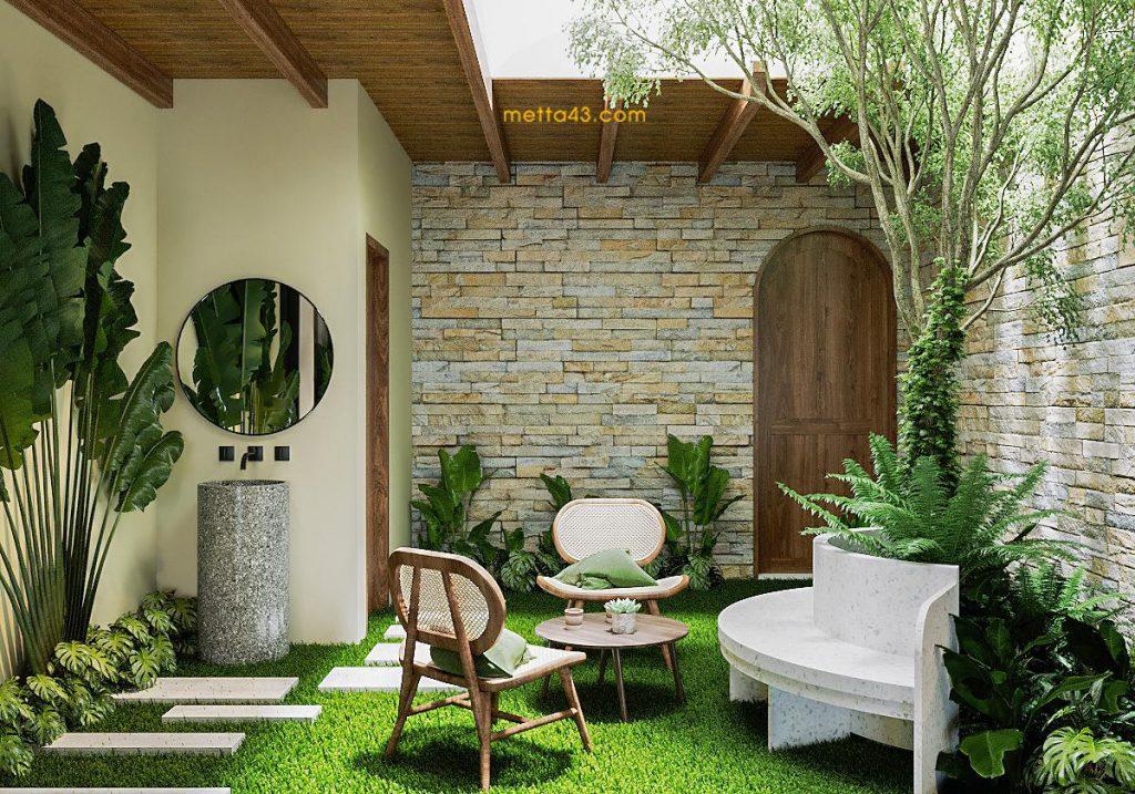 Không gian xanh thư giãn theo phong cách kiến trúc nhiệt đới